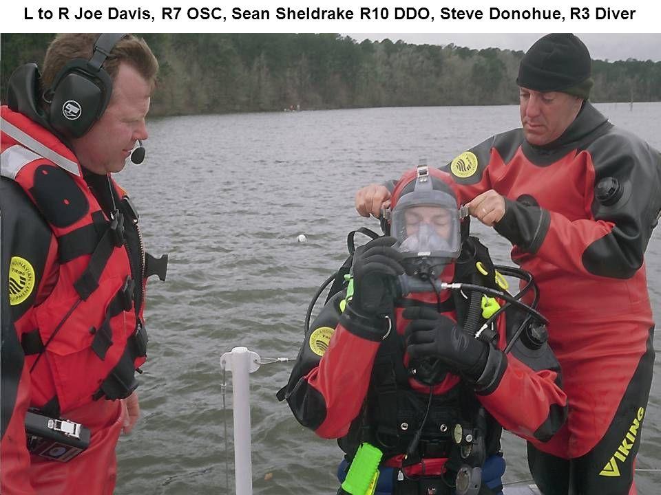 L to R Joe Davis, R7 OSC, Sean Sheldrake R10 DDO, Steve Donohue, R3 Diver