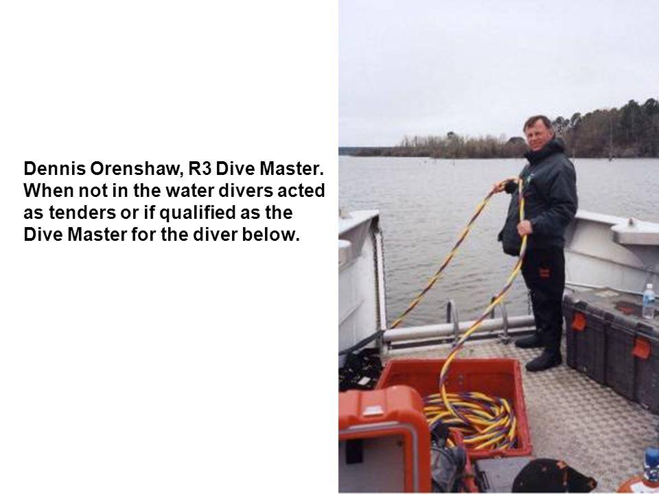 Dennis Orenshaw, R3 Dive Master.