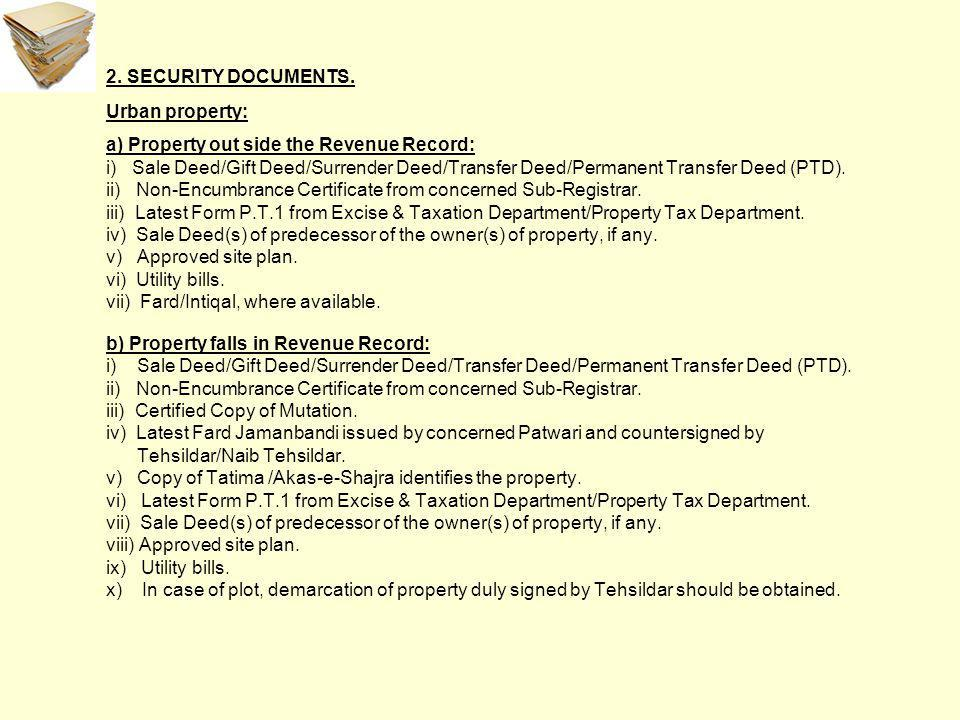 2. SECURITY DOCUMENTS.
