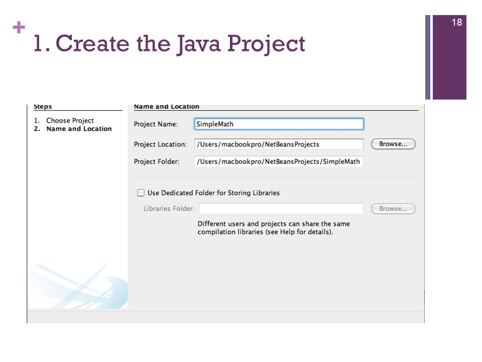 + 1. Create the Java Project 18