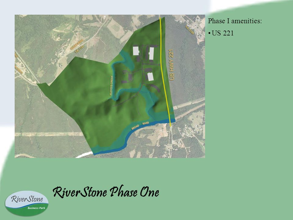RiverStone Phase One Phase I amenities: US 221