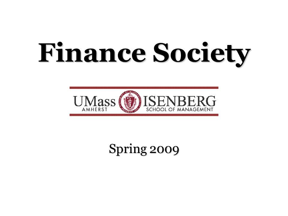 Finance Society Spring 2009