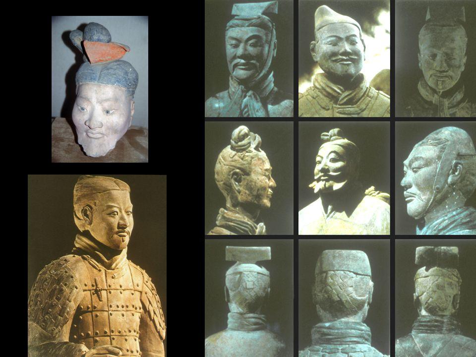 Jade Burial Suits of Liu Sheng (top) and Dou Wan