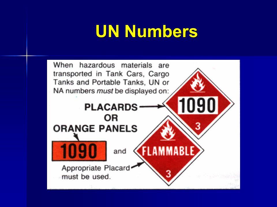 UN Numbers