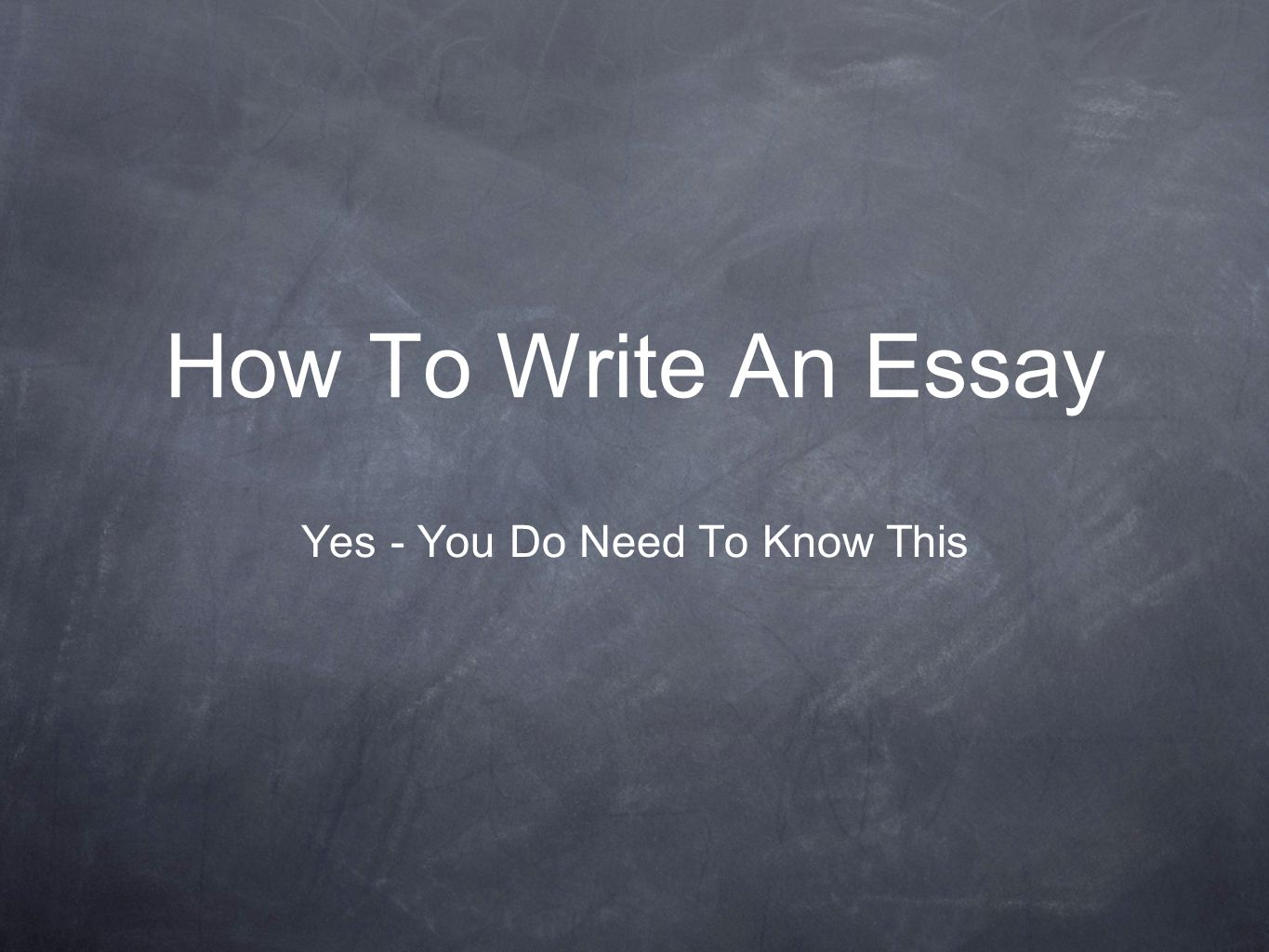 Importance What you have to say is ultimately more important then how the essay looks on the surface.