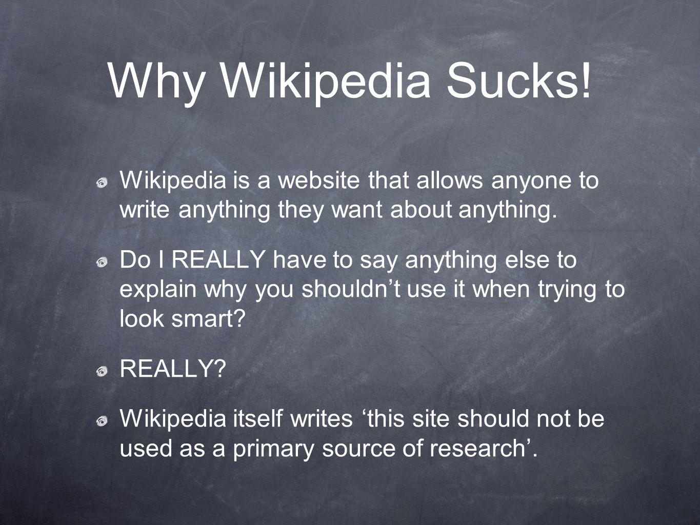 Why Wikipedia Sucks.
