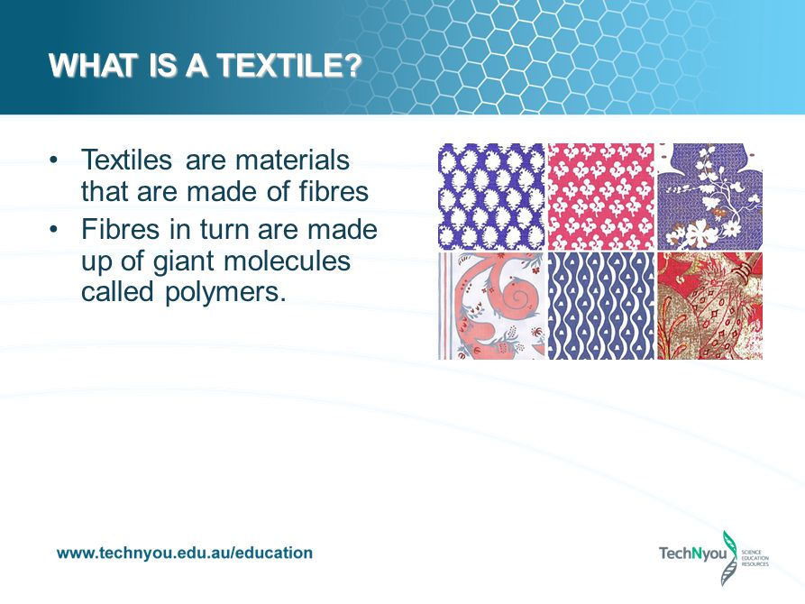 SPOT THE POLYMER We rely on polymers daily.