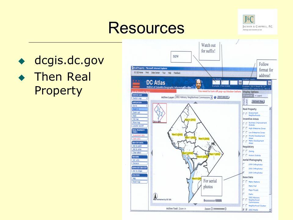 Roy L. Kaufmann, Jackson & Campbell, P.C. - 64 Resources dcgis.dc.gov Then Real Property