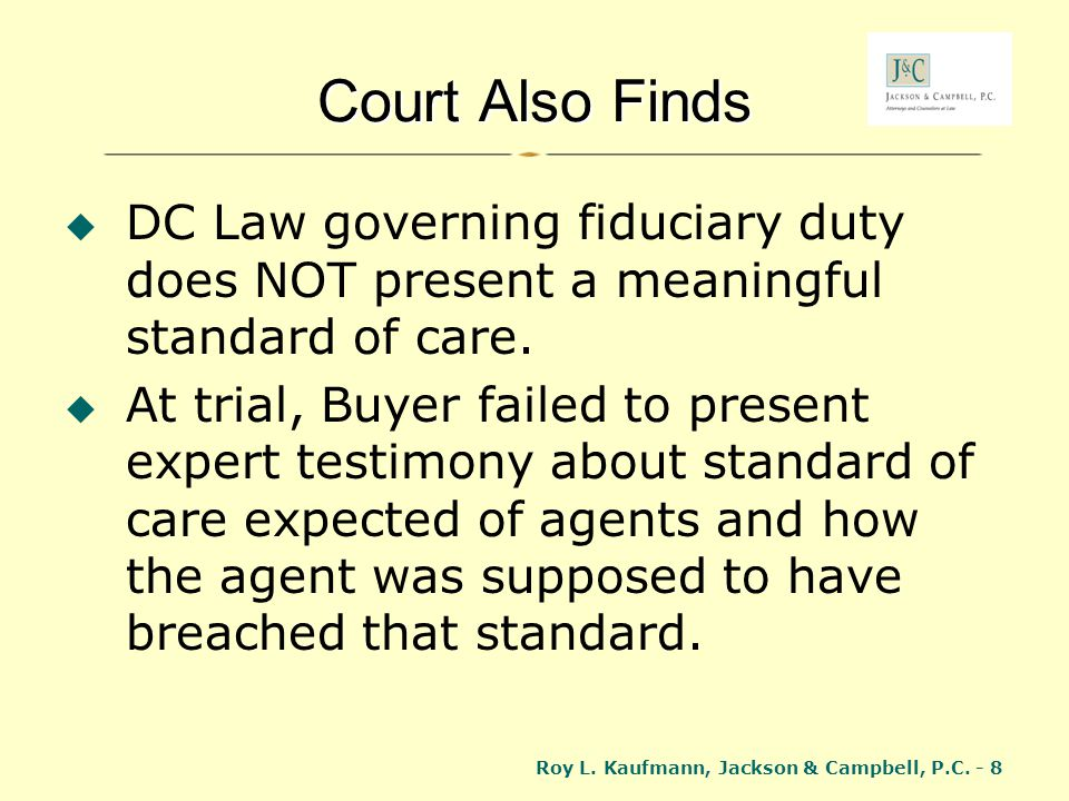 Roy L.Kaufmann, Jackson & Campbell, P.C. - 59 How to Claim Exemption.