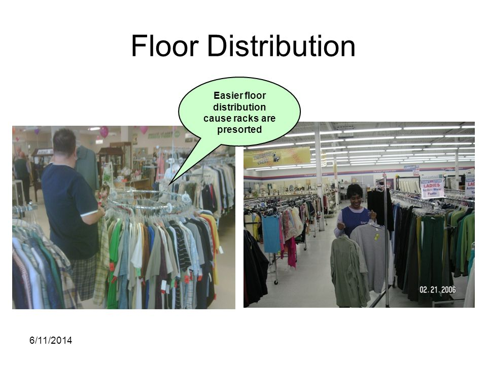 6/11/2014 Floor Distribution Easier floor distribution cause racks are presorted
