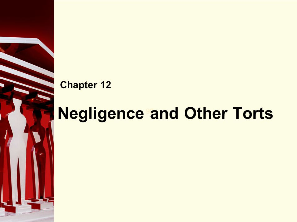 90 Negligence and Other Torts Chapter 12