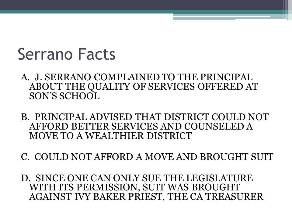 Serrano Facts A. J.