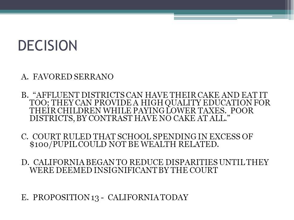 DECISION A. FAVORED SERRANO B.