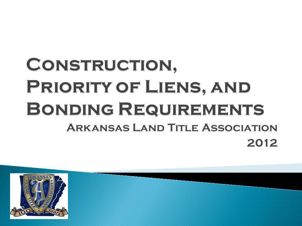 Arkansas Land Title Association 2012
