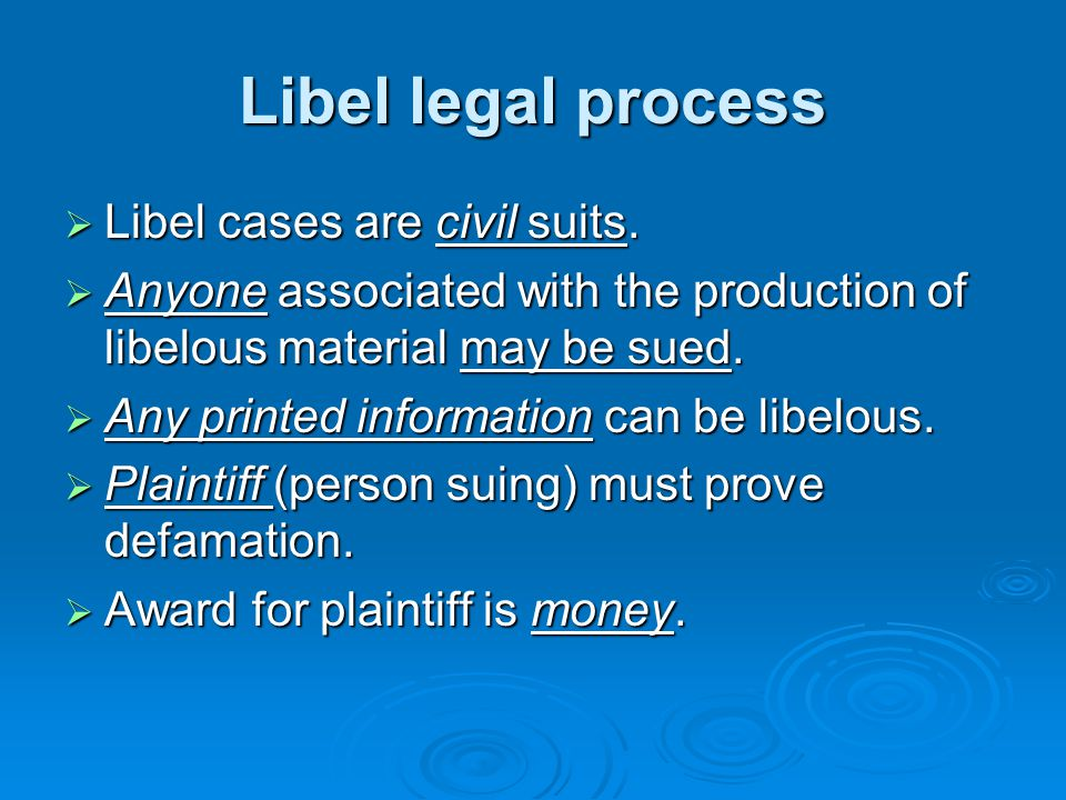 What is libel.