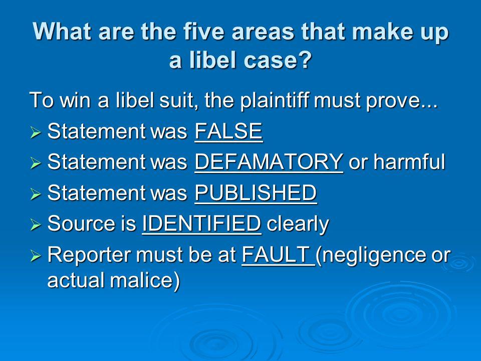 Libel legal process Libel cases are civil suits. Libel cases are civil suits.