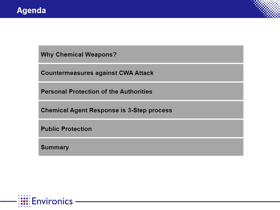 Agenda Why Chemical Weapons.