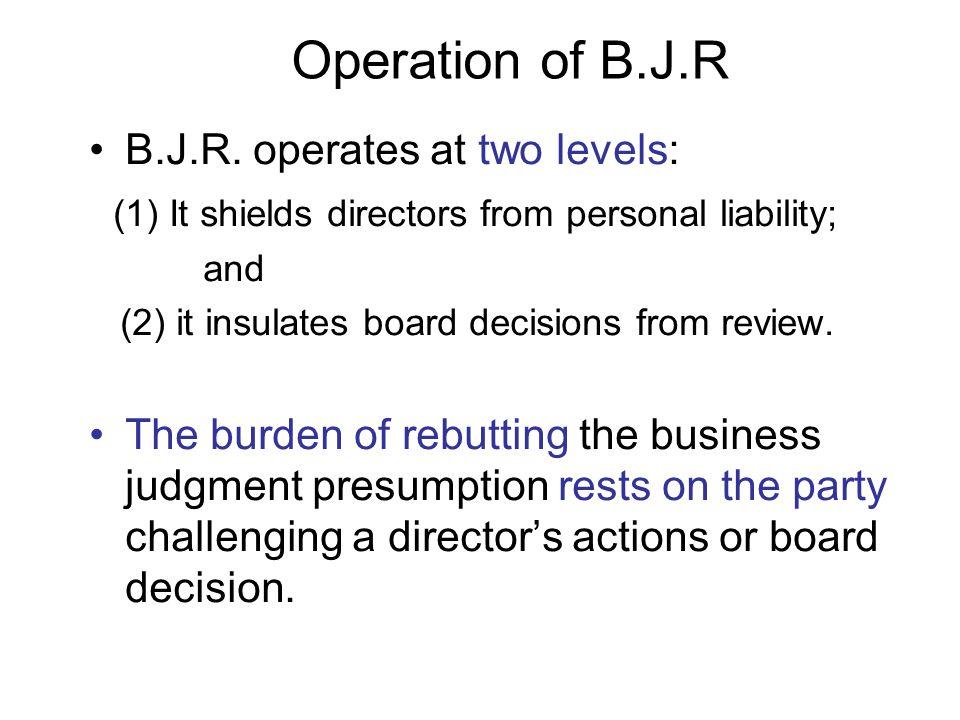 Operation of B.J.R B.J.R.