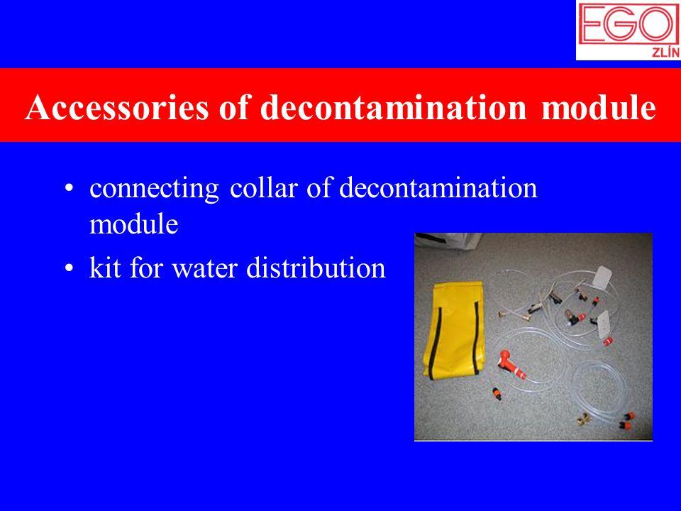 Accessories of decontamination module connecting collar of decontamination module kit for water distribution
