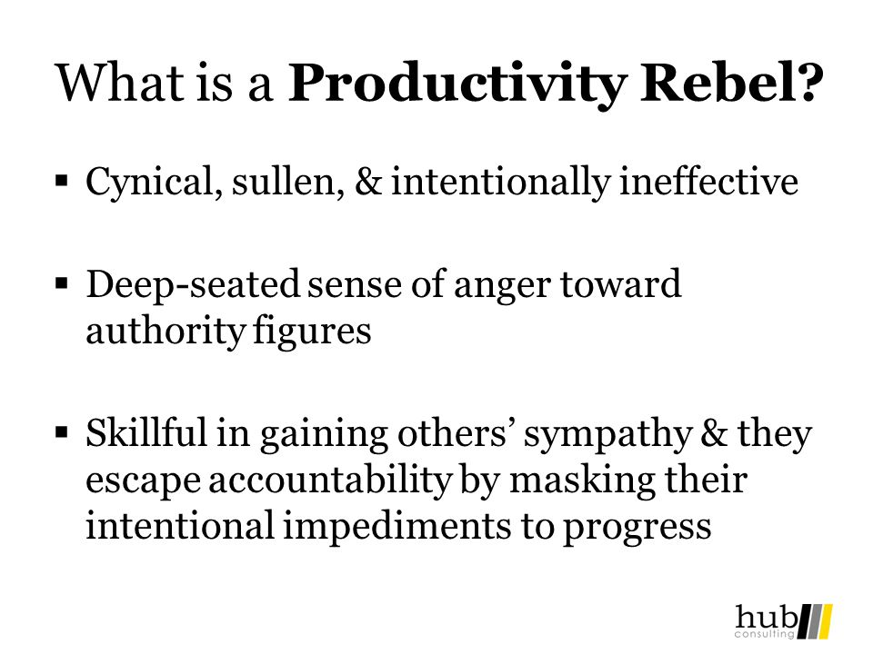 What is a Productivity Rebel.