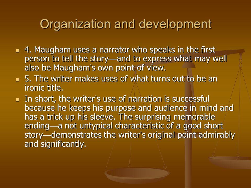 Organization and development 4.