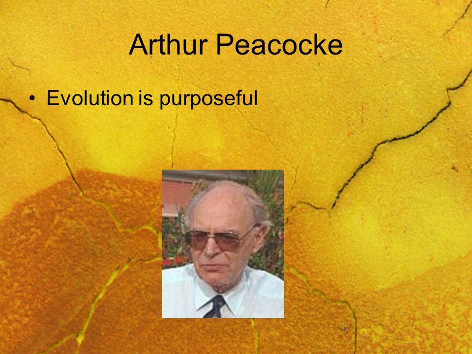 Arthur Peacocke Evolution is purposeful