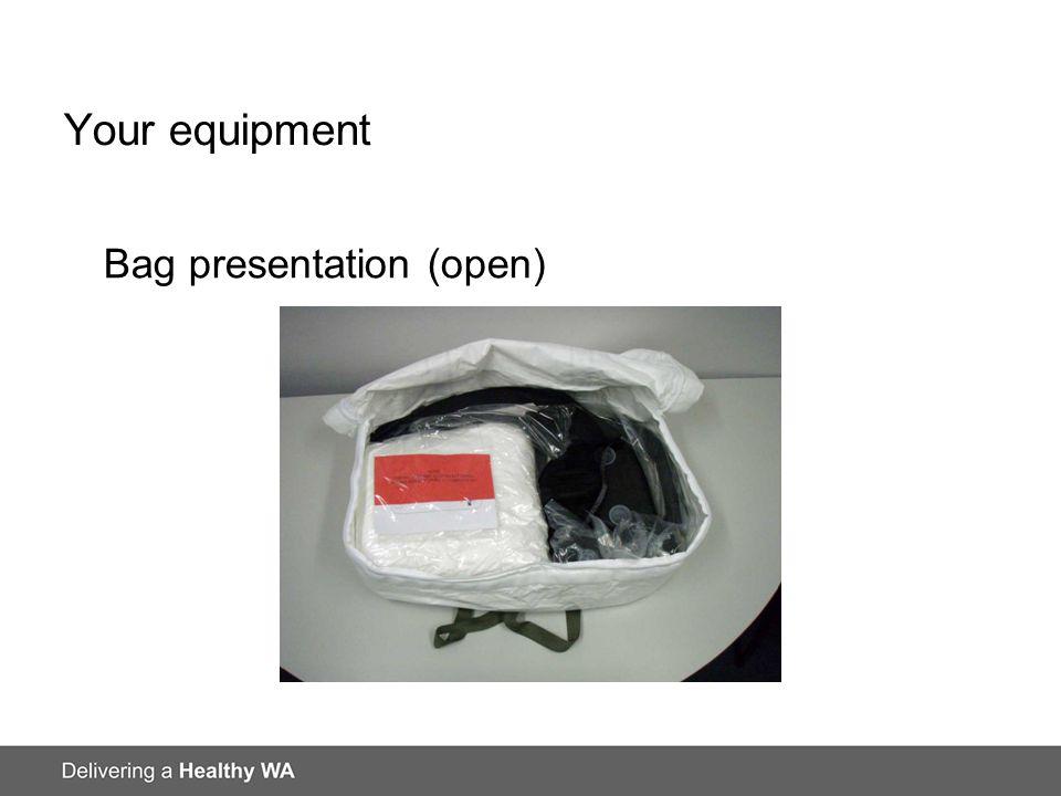 Your equipment Bag presentation (open)