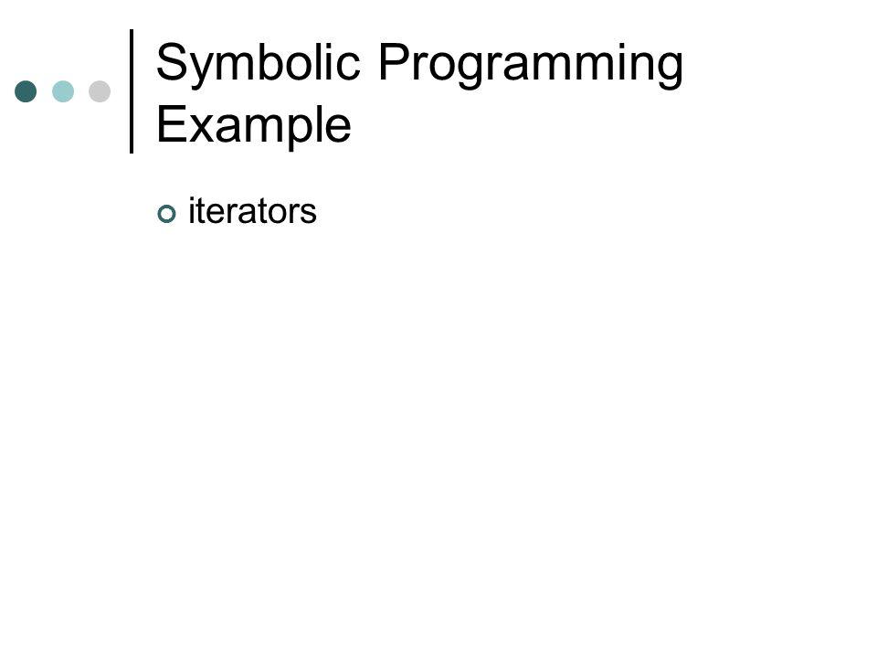 Symbolic Programming Example iterators