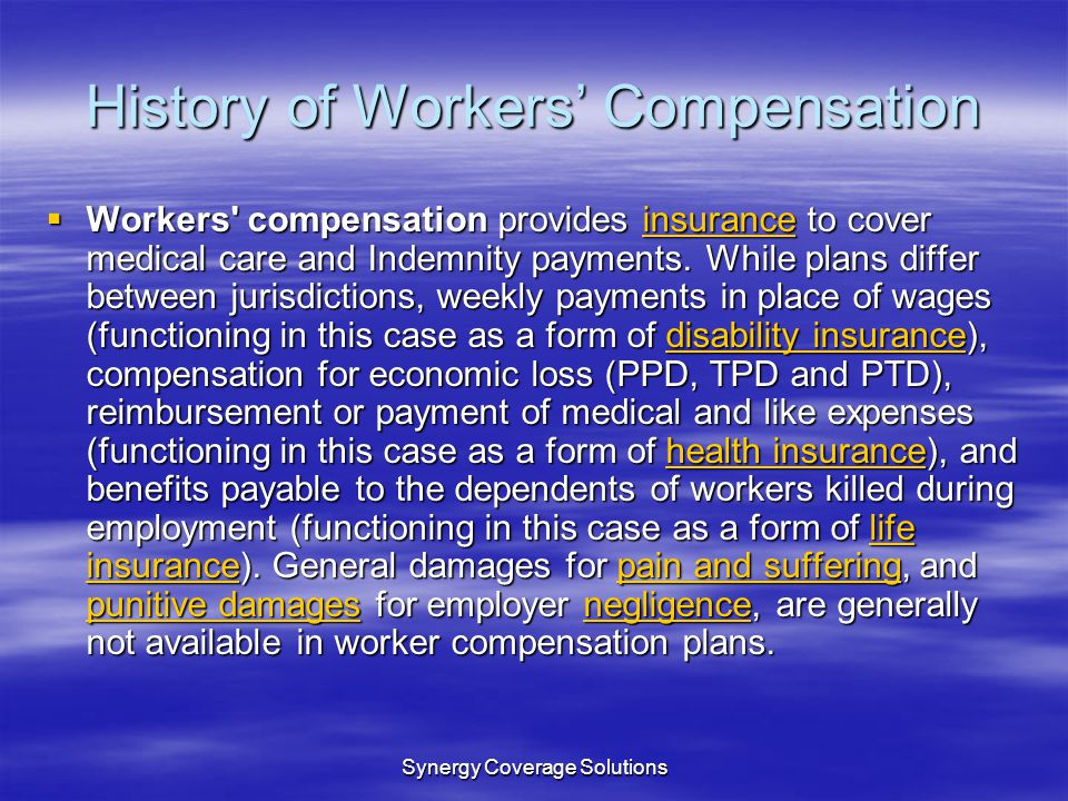Synergy Coverage Solutions Hiring Practices and Workers Compensation Claims Typically a bad hiring decision results in a Bad workers compensation claim