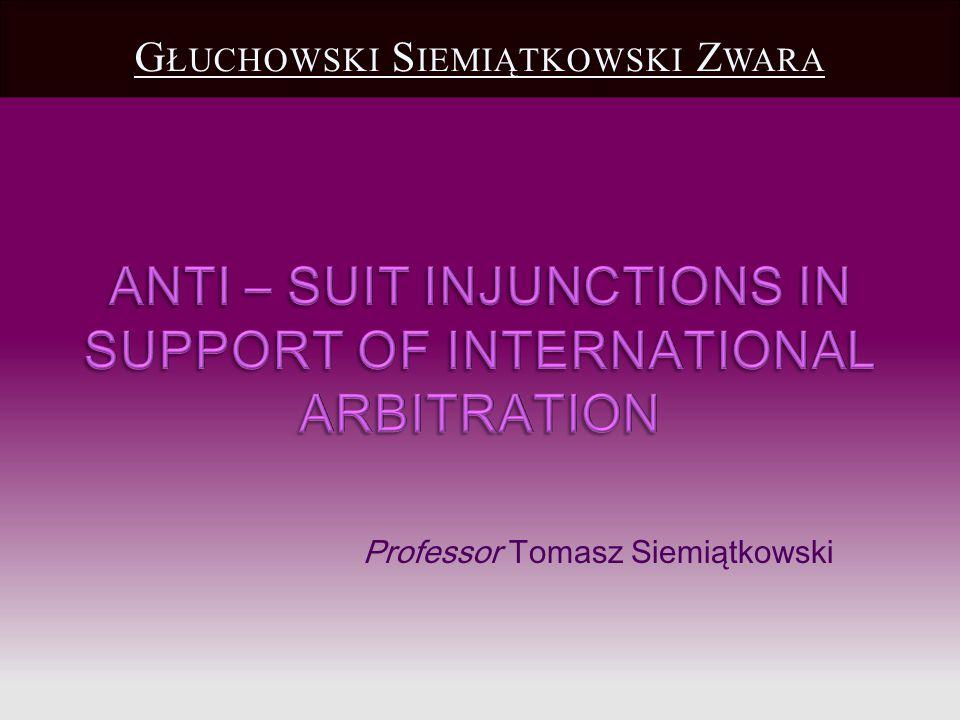 Professor Tomasz Siemiątkowski G ŁUCHOWSKI S IEMIĄTKOWSKI Z WARA