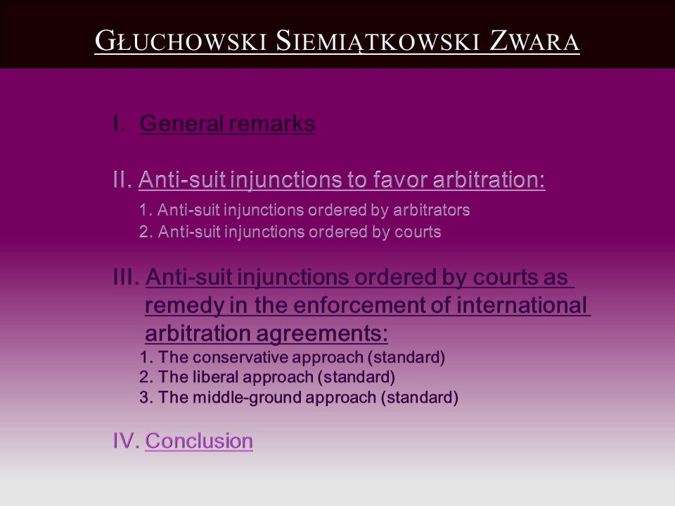 Anti-suit injunctions as a remedy employed especially by common law courts to prevent parallel proceedings that are considered vexatious or oppressive, and that present a threat to the jurisdiction of the enjoining court.
