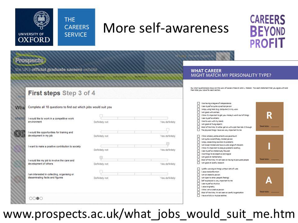Job researching Taking action Decision making Self awareness Occupational awareness