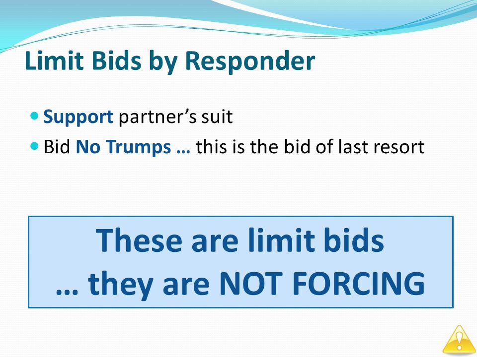 Openers Rebid – MINIMUM HAND Open 1 RESPONDER OPENERS REBID RESPONDER OPENERS REBID 1 2 2NTPASS 1NT 2 3 4 2 2 3NTPASS 2 2 4 2 BARRIER = 2