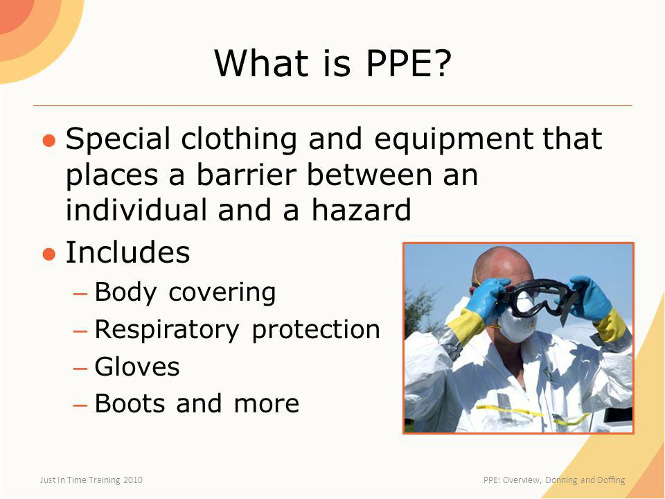 Why is PPE Needed.