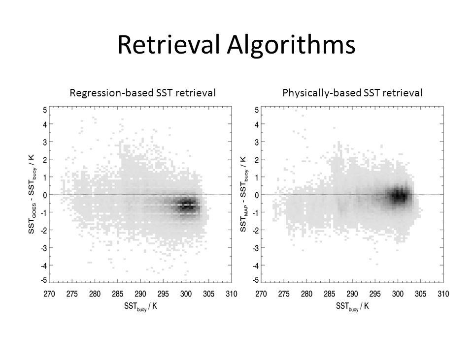 Retrieval Algorithms Regression-based SST retrievalPhysically-based SST retrieval