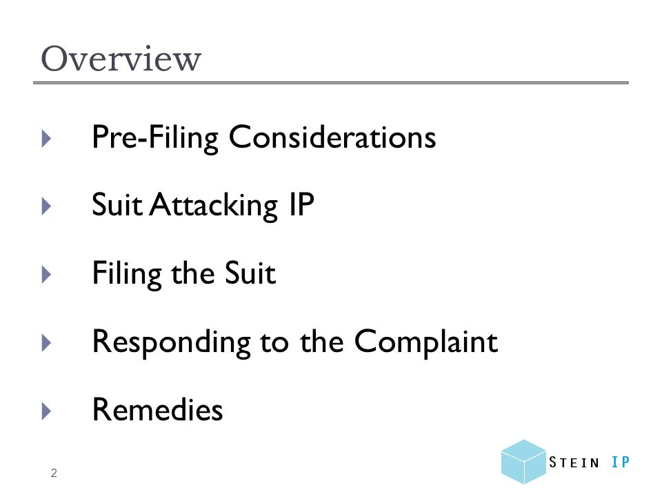 Pre-filing Considerations 3 Patent: Issued U.S.Patent.
