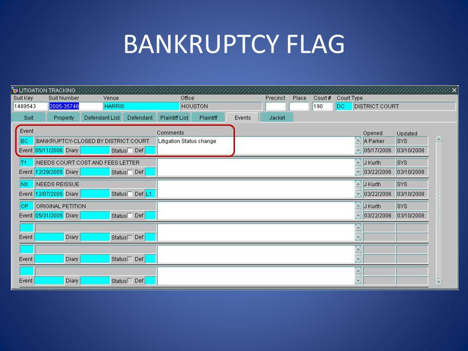BANKRUPTCY FLAG