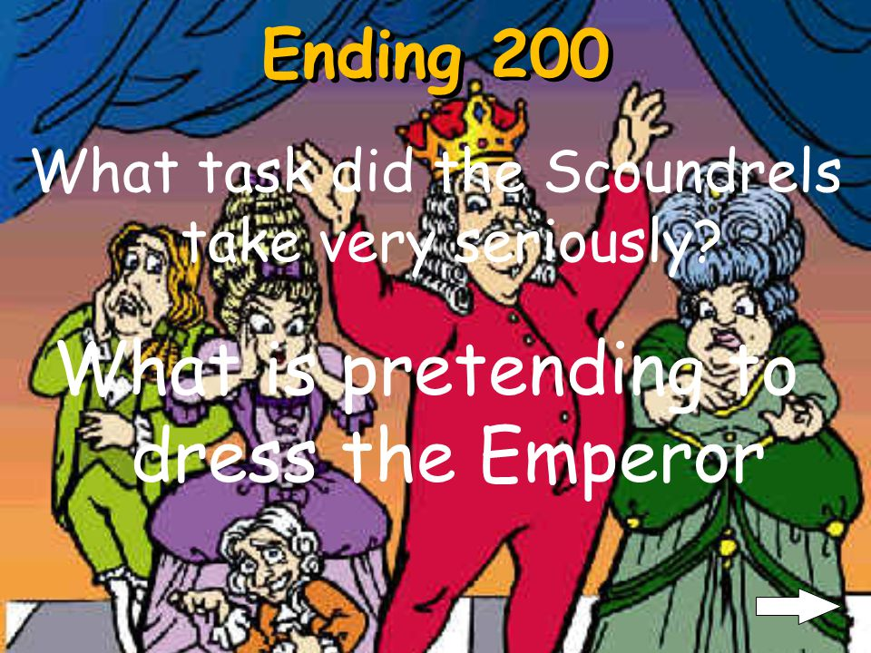 Ending 100 Why was the Emperor scared when he saw the suit Why is he could not see anything