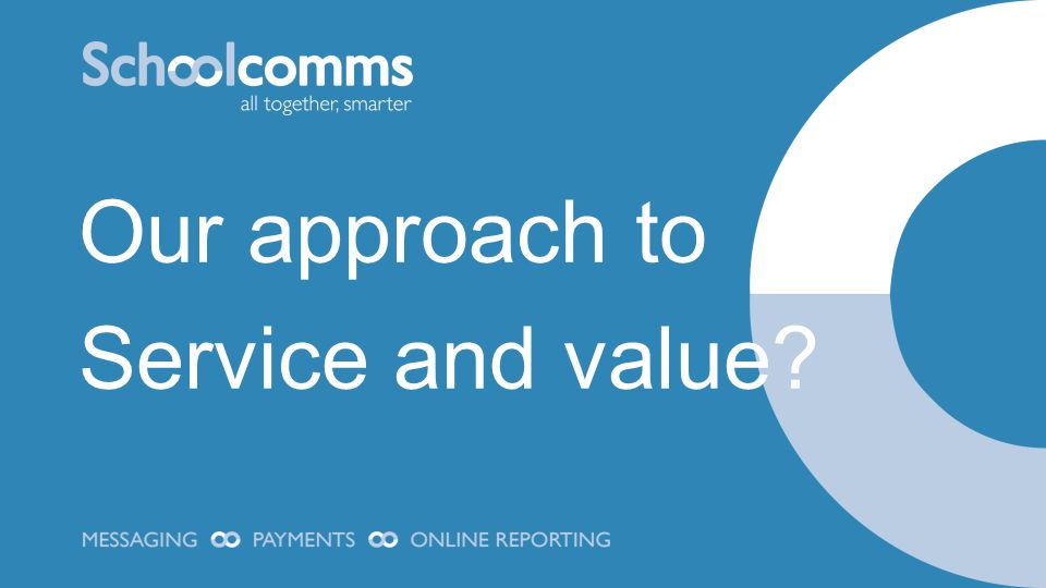 Our approach to Service and value