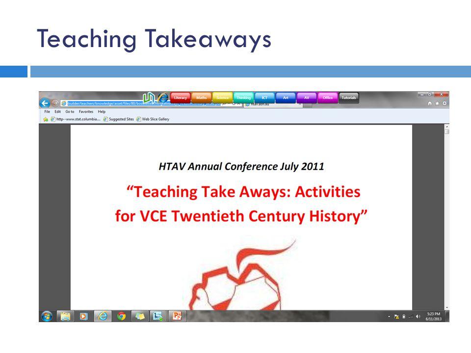 Teaching Takeaways