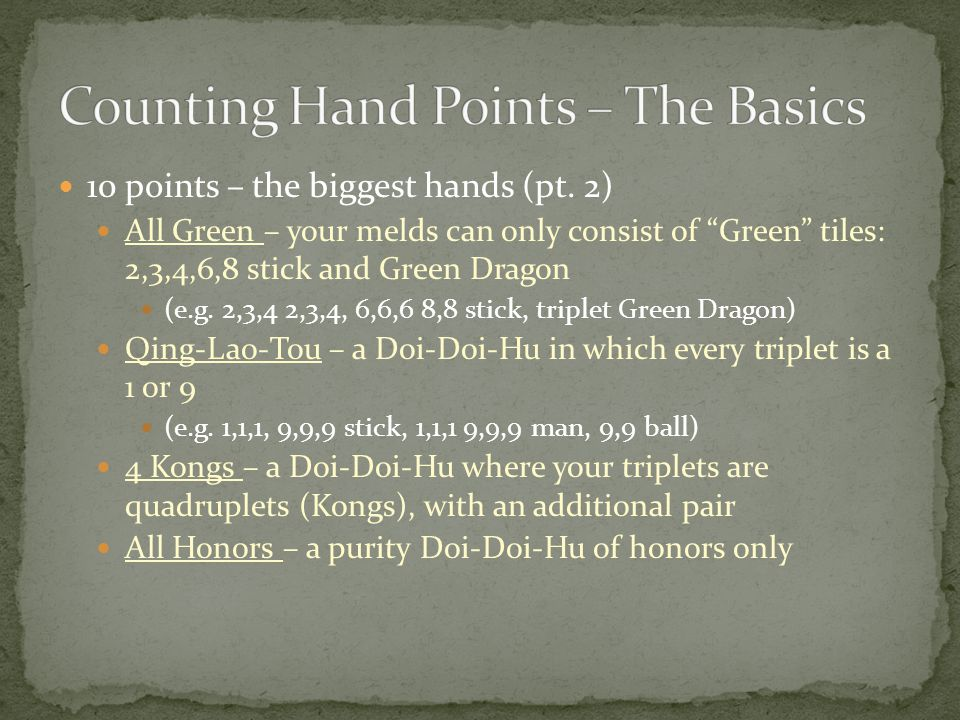 10 points – the biggest hands (pt.