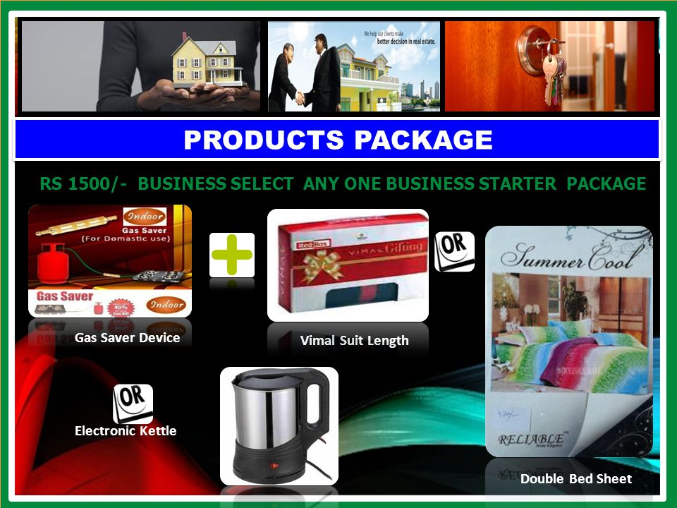 PRODUCTS PACKAGE RS 1000/- BUSINESS SELECT ANY ONE BUSINESS STARTER PACKAGE WATCH Vimal Suit Length Electric Lunch Box Nova Hair Trimmer Stream Iron