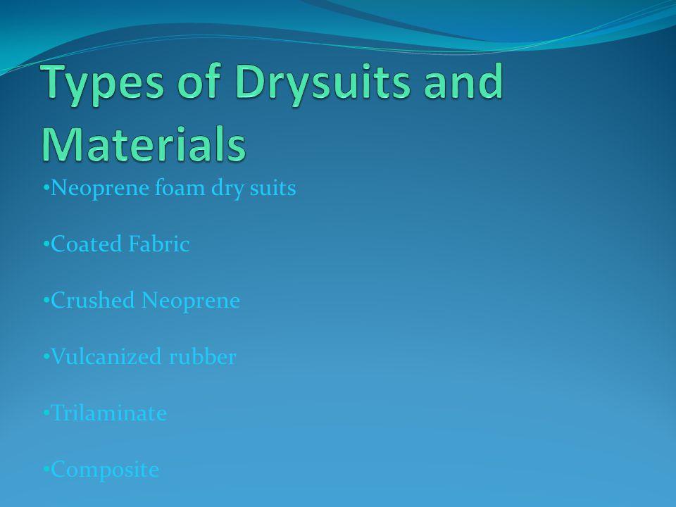 Neoprene foam dry suits Coated Fabric Crushed Neoprene Vulcanized rubber Trilaminate Composite