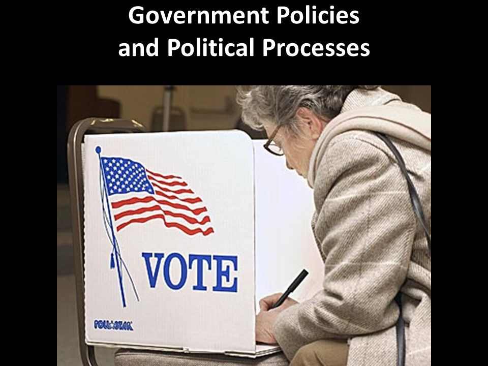 Government Policies and Political Processes