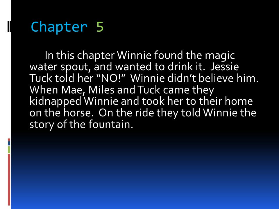 Chapter 6 Winnie began to get confused and started to sob.
