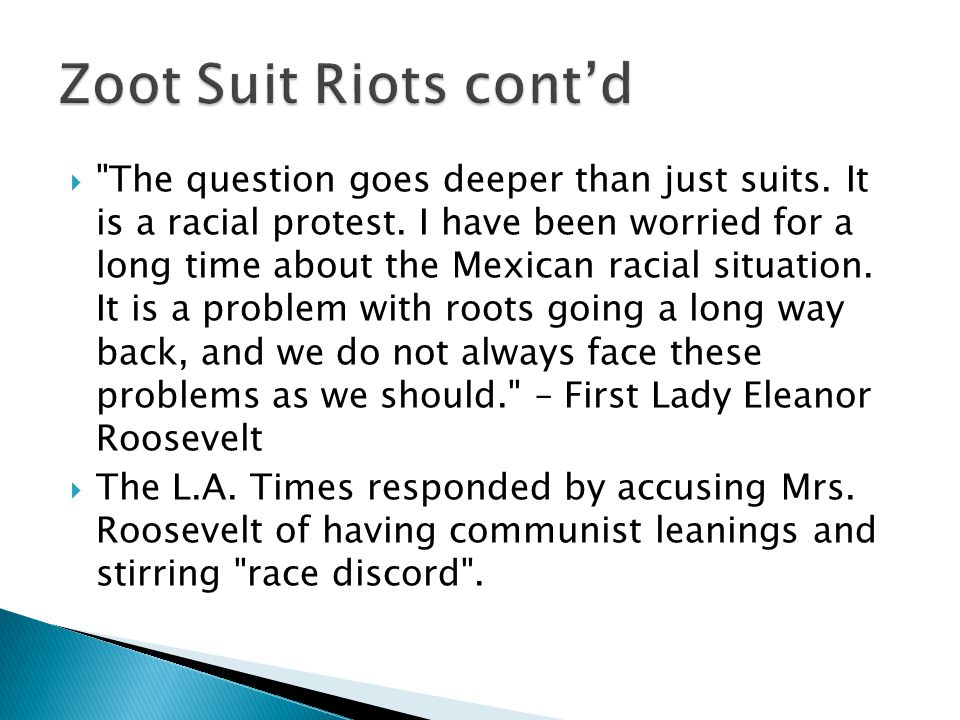 The question goes deeper than just suits. It is a racial protest.
