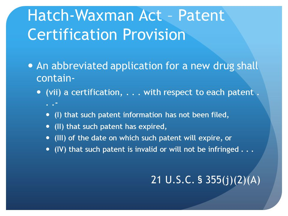Submission of Patent Information to FDA NDA, amendment, supplement after NDA or supplement approval newly listed patents 21 C.F.R.
