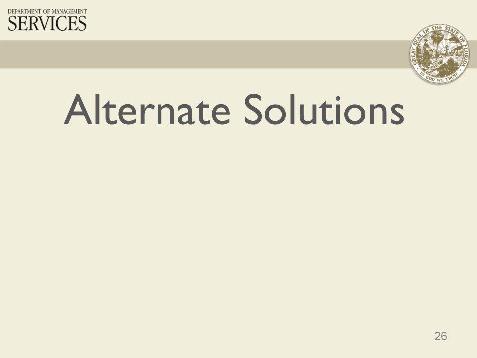 26 Alternate Solutions