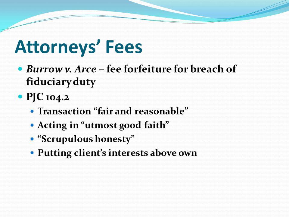 Attorneys Fees Burrow v.