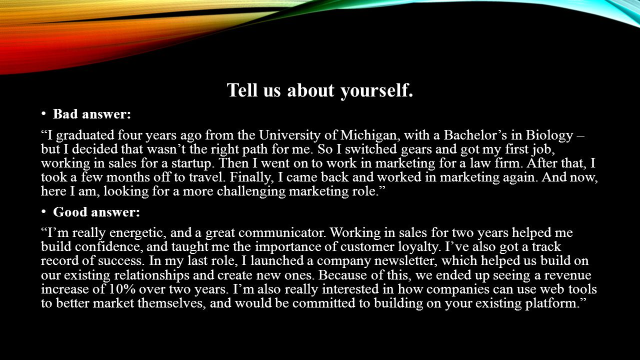 Tell us about yourself.